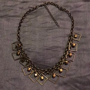 Brass metal necklace